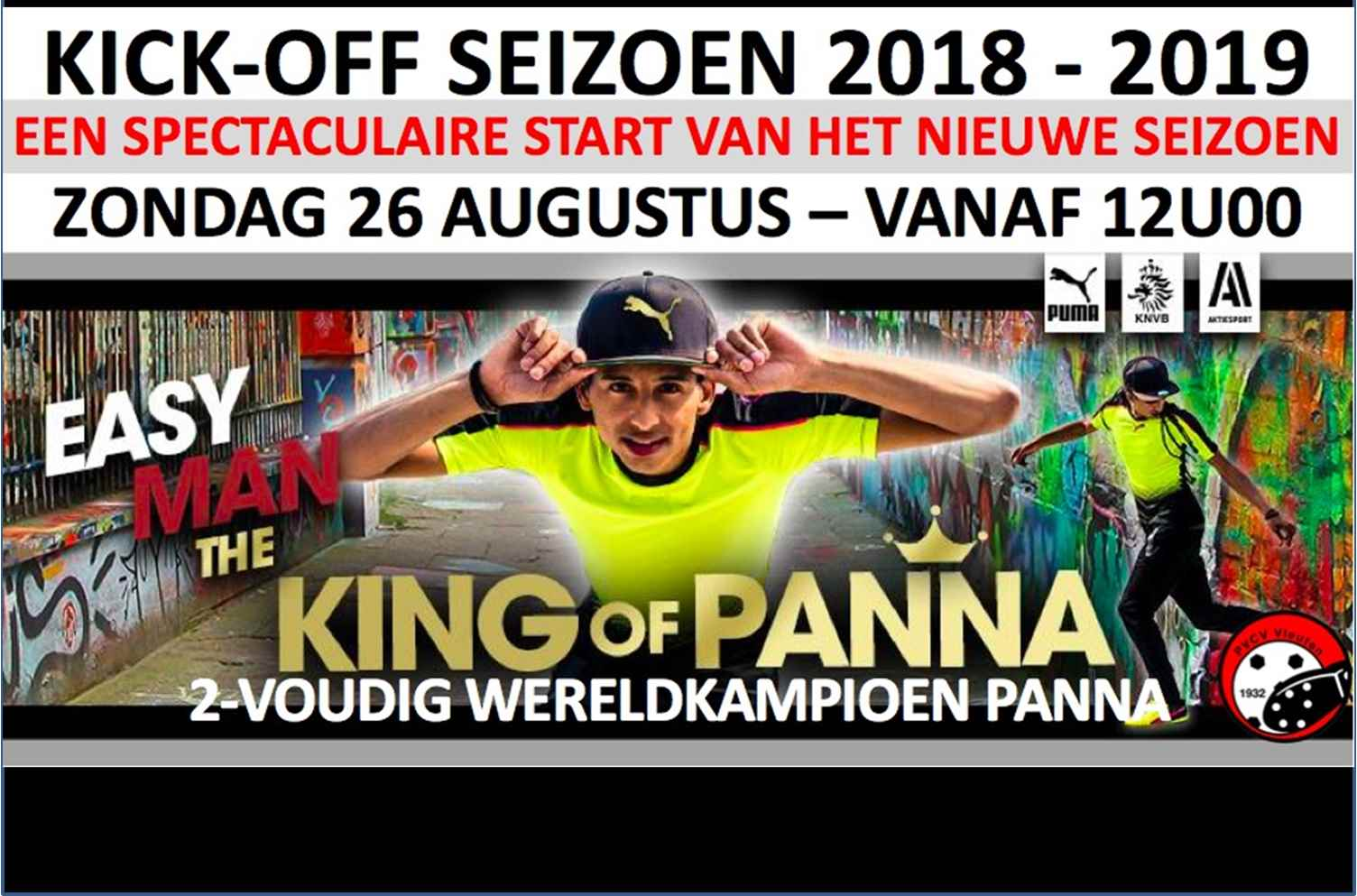 Kick-off seizoen 2018/2019