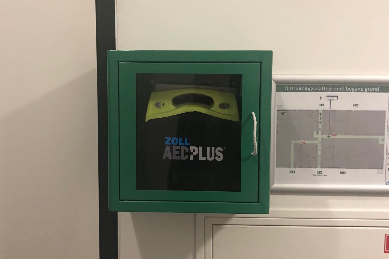 AED aanwezig in kantine