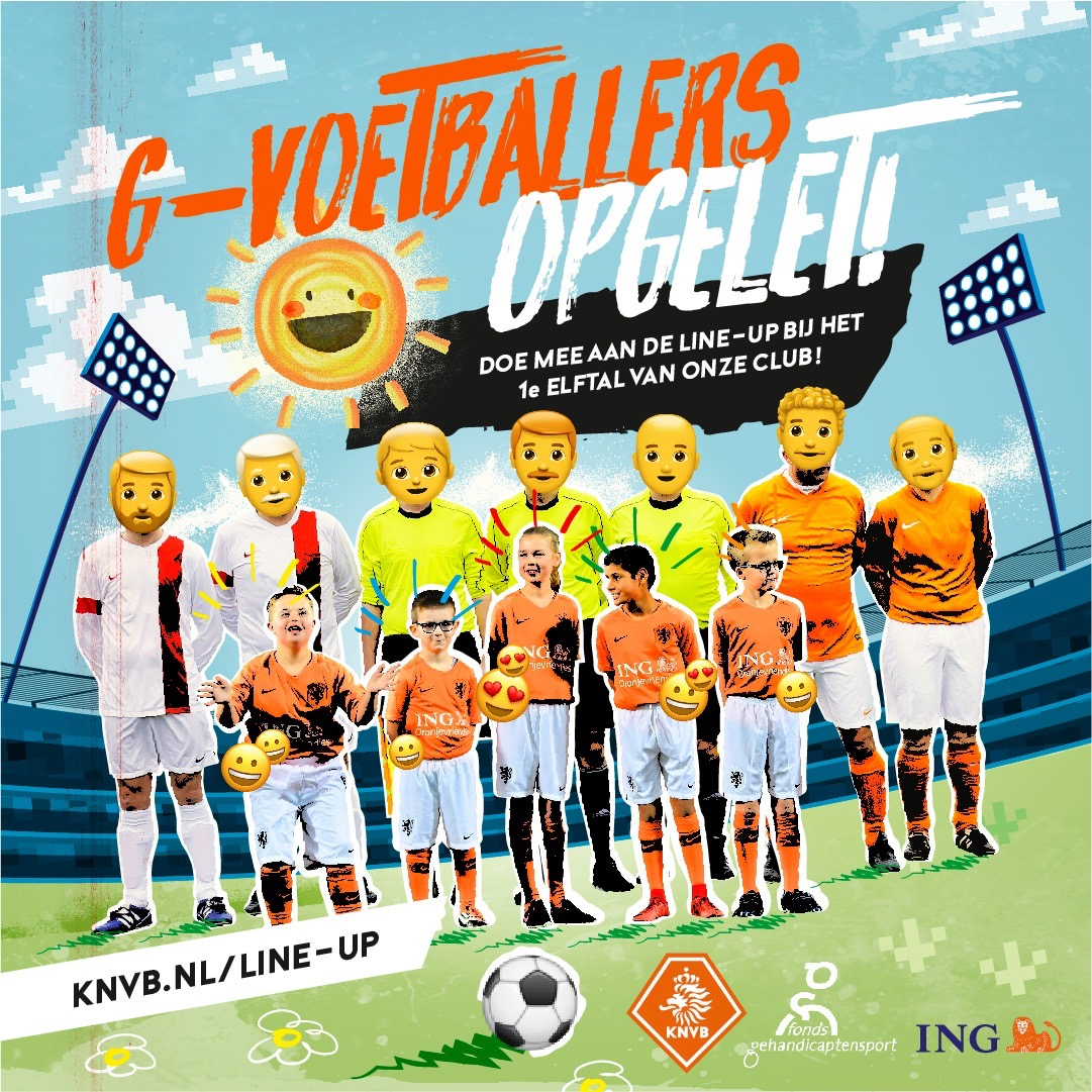 Unieke G-voetbal line-up bij PVCV 1 – Antibarbar 1 op 3 November aanstaande