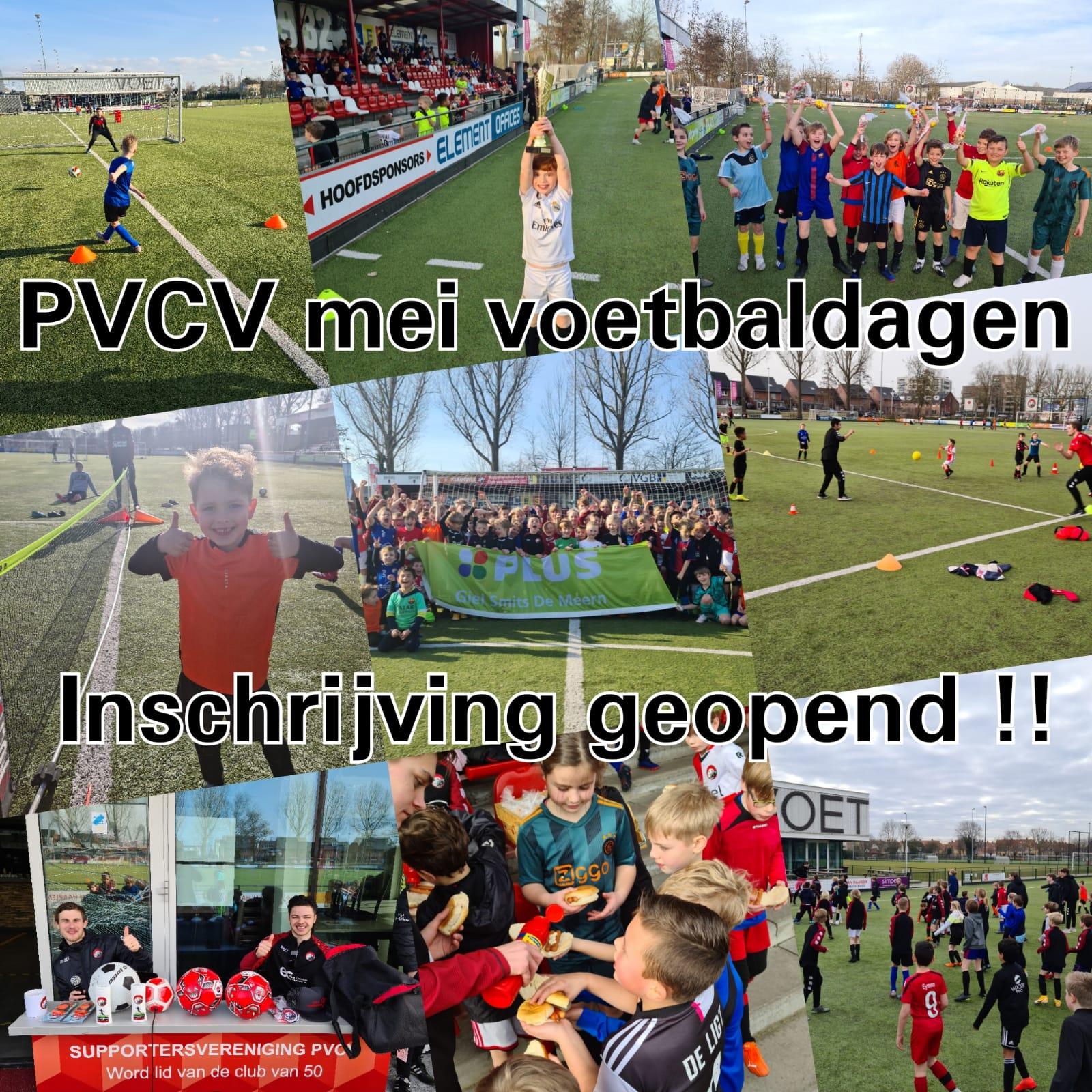PVCV meivakantie voetbaldagen 3 en 4 mei