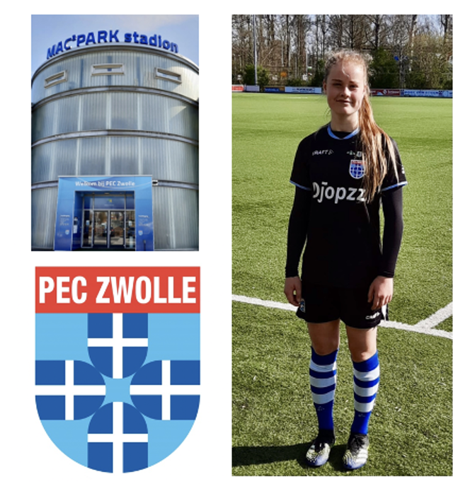 Transfernieuws: Senne (JO15) naar PEC Zwolle Beloften Vrouwen!