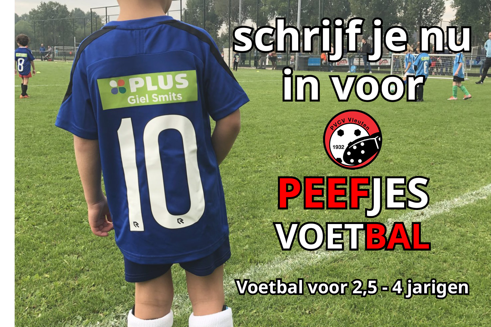 Inschrijving Peefjes voetbal nu geopend!